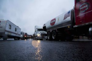 Foster Fuels Trucks lined up in wake of Hurricane Matthew