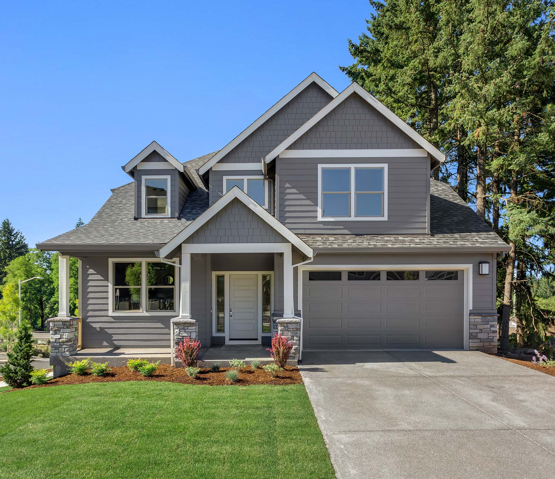 Suburban home with propane heat